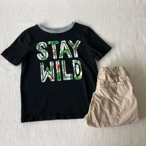 Old Navy Stay Wild Ringer T-shirt Size 4T